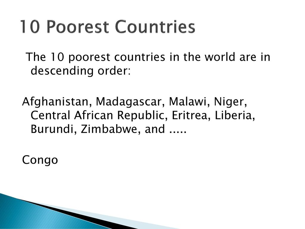 Social Darwinism On Steroids Ppt Download - 10 poorest countries