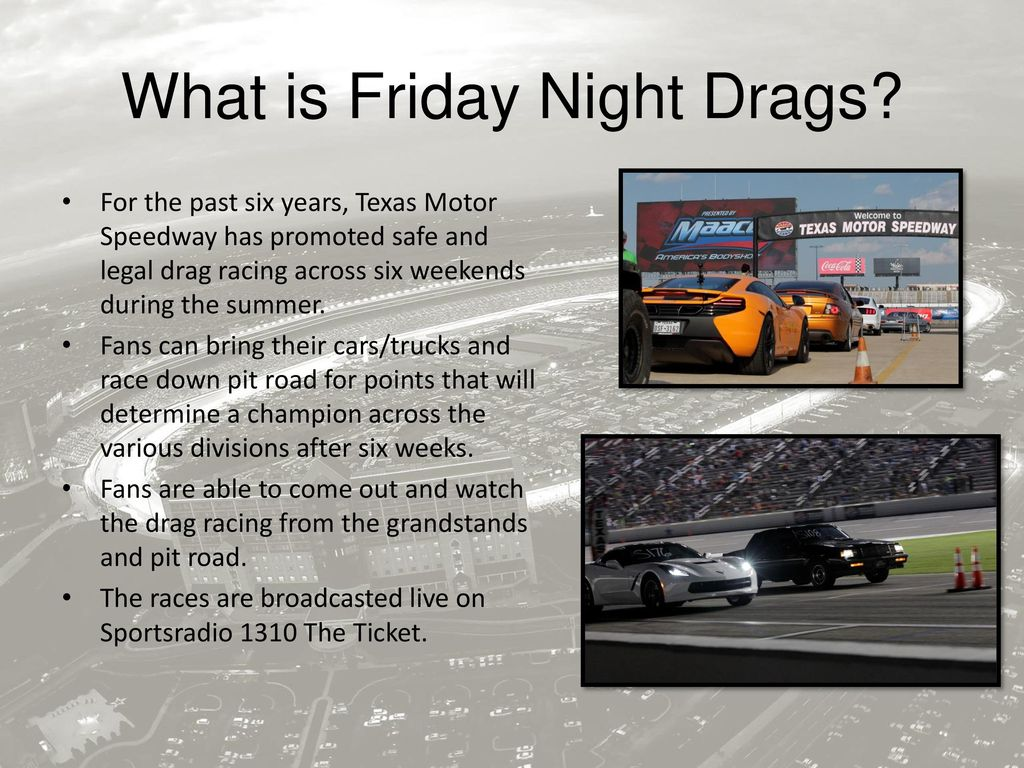 Friday night drags texas motor speedway for Texas motor speedway drag racing