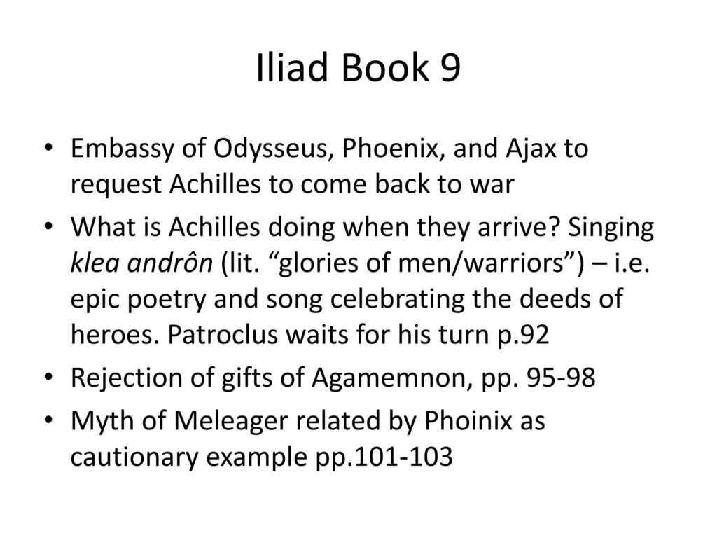 BOOK IX [THE EMBASSY TO ACHILLES]