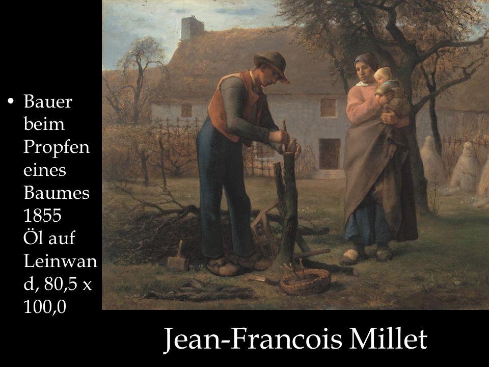 Bauer beim Propfen eines Baumes 1855 Öl auf Leinwand, 80,5 x 100,0