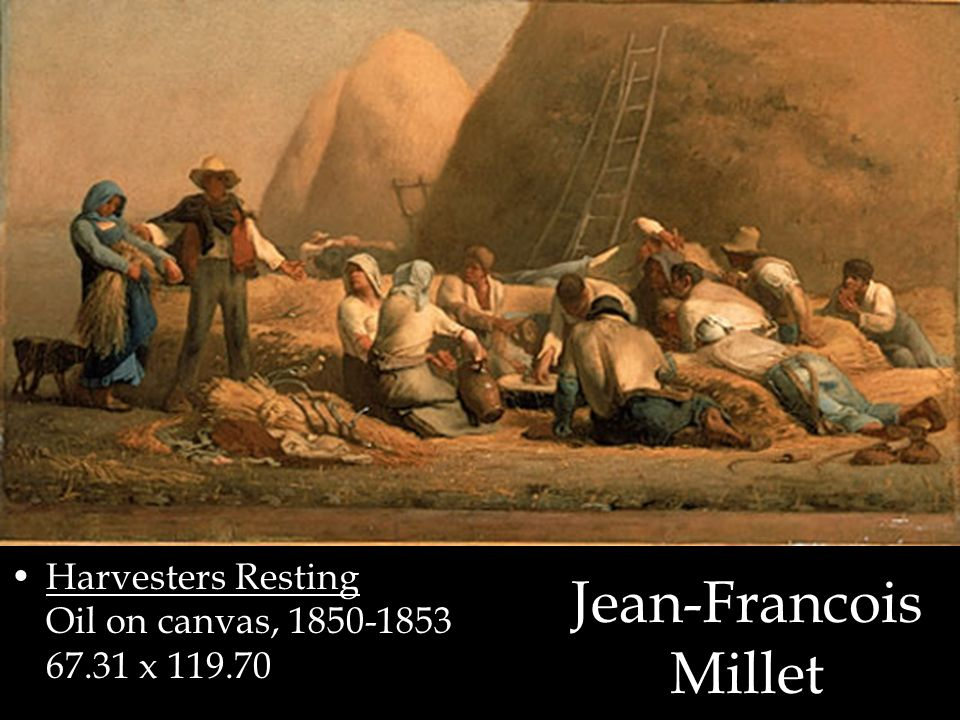 Harvesters Resting Oil on canvas, 1850-1853 67.31 x 119.70