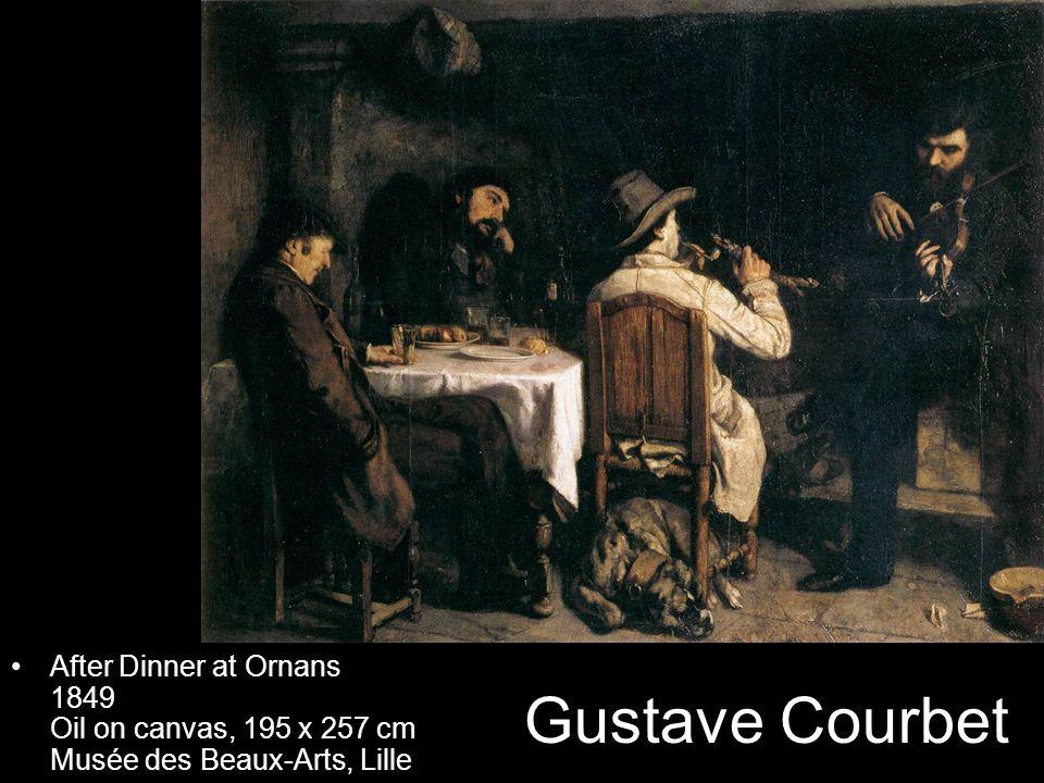 After Dinner at Ornans 1849 Oil on canvas, 195 x 257 cm Musée des Beaux-Arts, Lille
