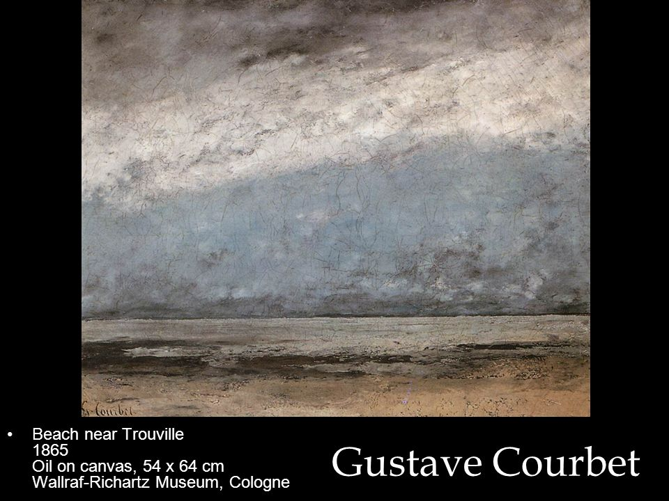 Beach near Trouville 1865 Oil on canvas, 54 x 64 cm Wallraf-Richartz Museum, Cologne