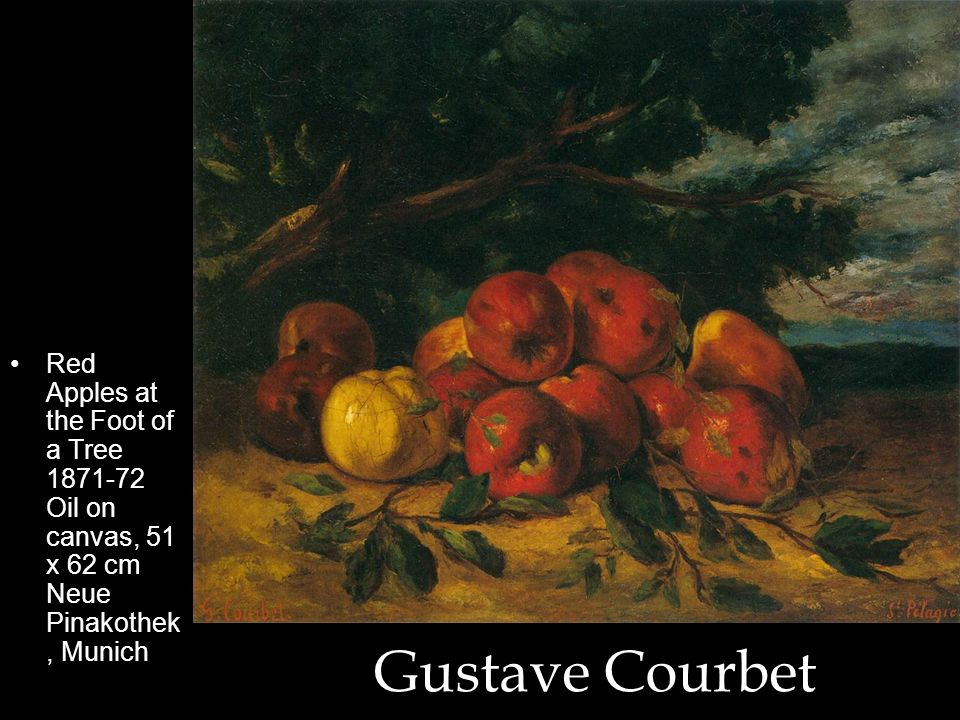 Red Apples at the Foot of a Tree 1871-72 Oil on canvas, 51 x 62 cm Neue Pinakothek, Munich