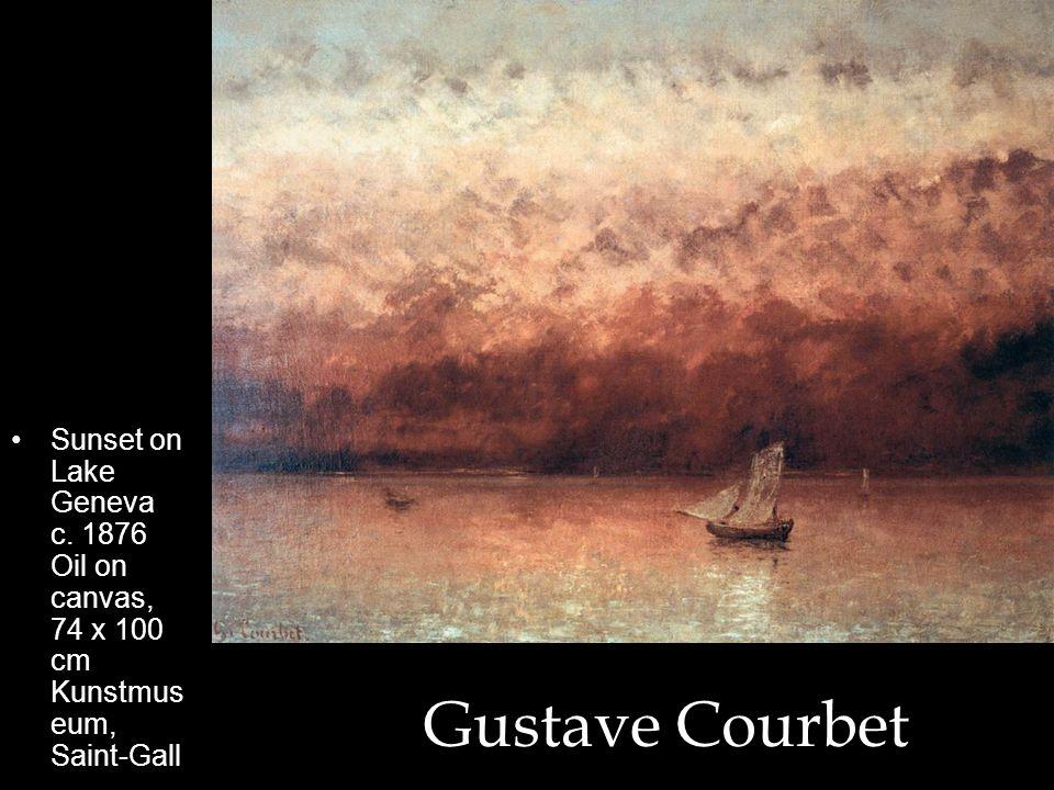Sunset on Lake Geneva c. 1876 Oil on canvas, 74 x 100 cm Kunstmuseum, Saint-Gall