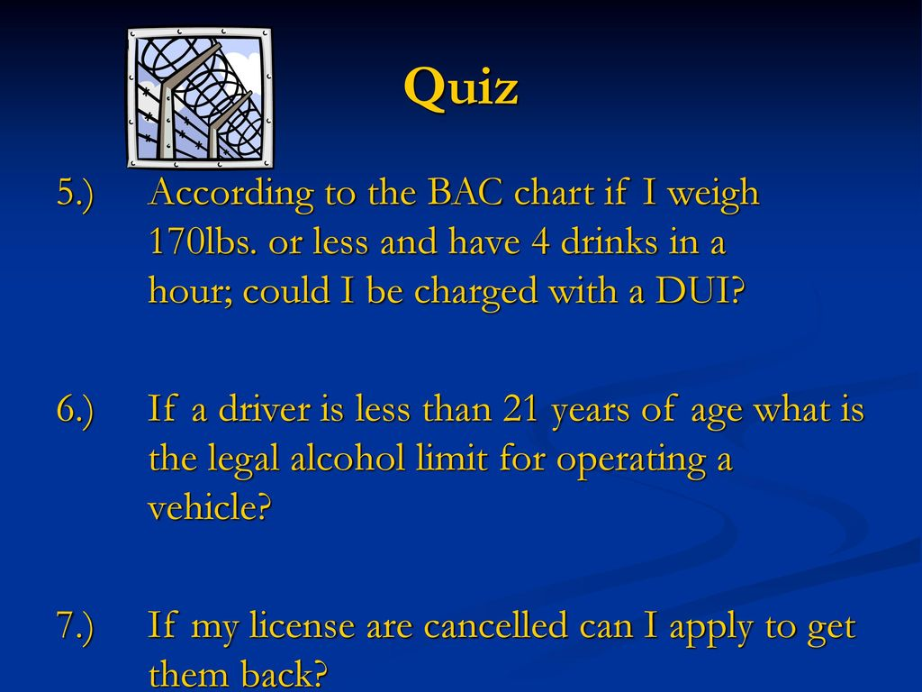 State of alabama dui law ppt download according to the bac chart if i weigh 170lbs or less nvjuhfo Choice Image