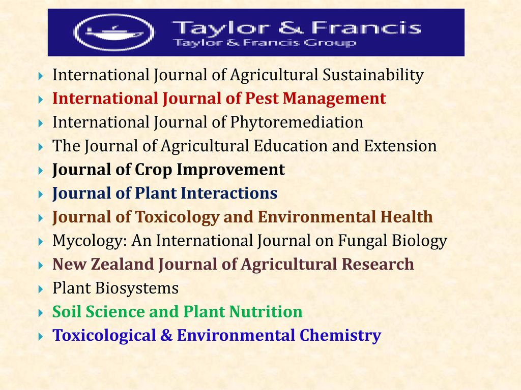international journal of agricultural sustainability The international journal of agricultural and environmental information systems (ijaeis) presents high quality research papers on the design and implementation of information systems in the fields of agronomics, mathematics, economics, computer science, and the environment ijaeis provides the latest innovative technologies in the construction.