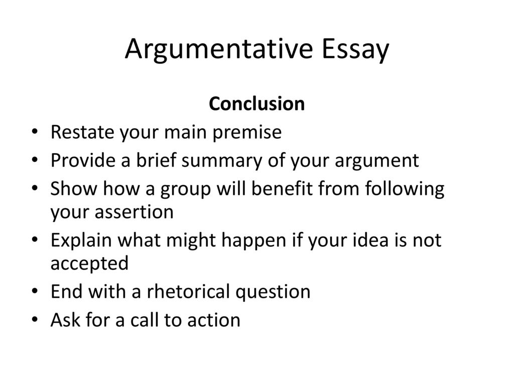 premise essay A deductive essay will follow the standard essay structure of introduction, body text, conclusion and references the premise will be stated in the introduction.