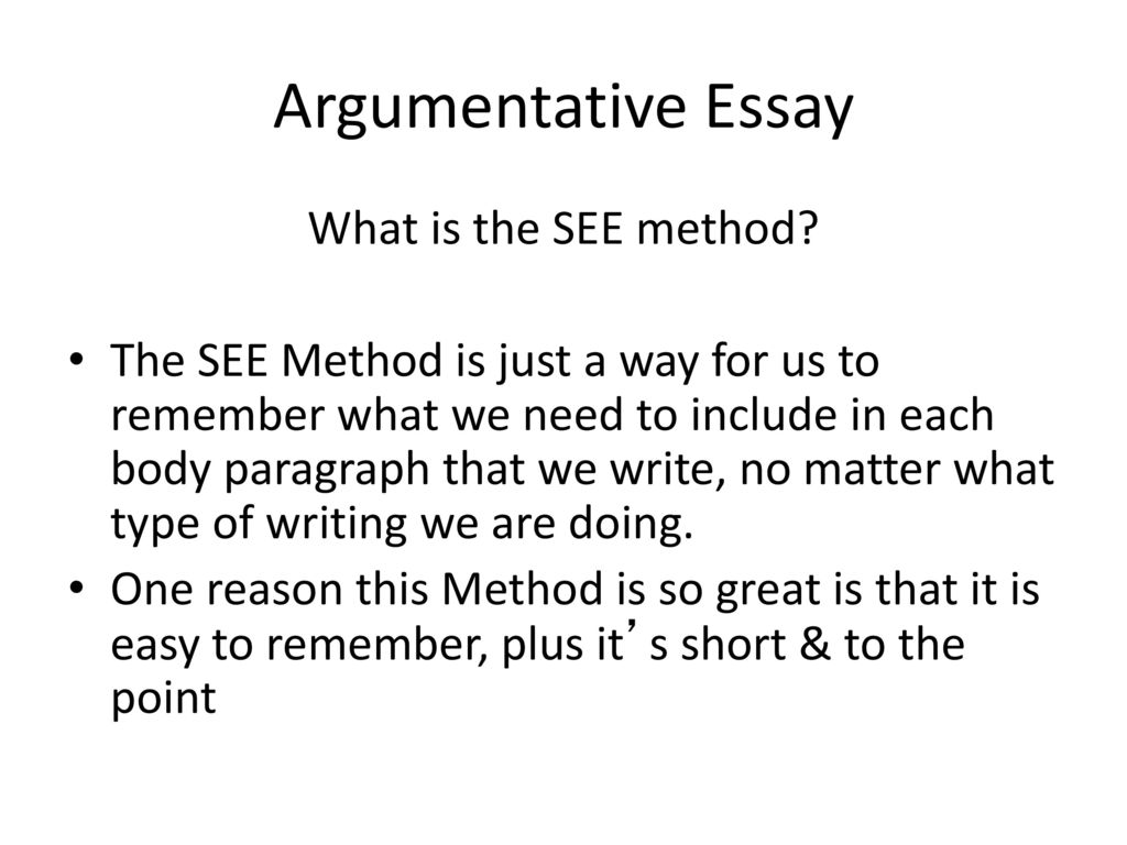 argumentative essay relationships