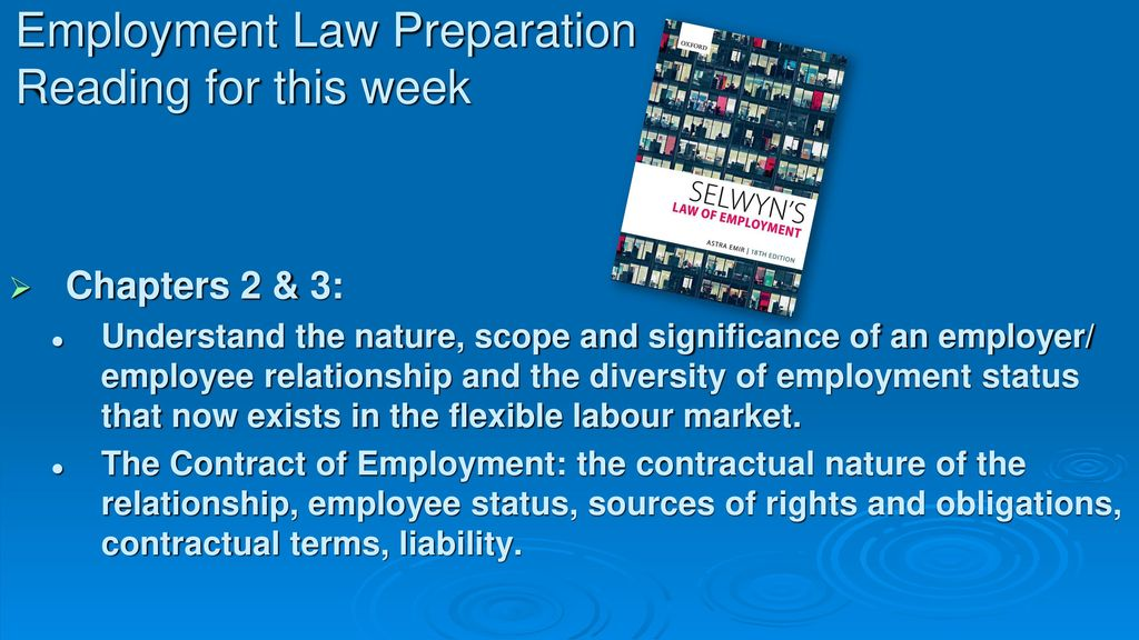 employment law wk 3 for me United kingdom labour law regulates the relations between workers given the purpose of employment law to protect the employee 3 days a week.