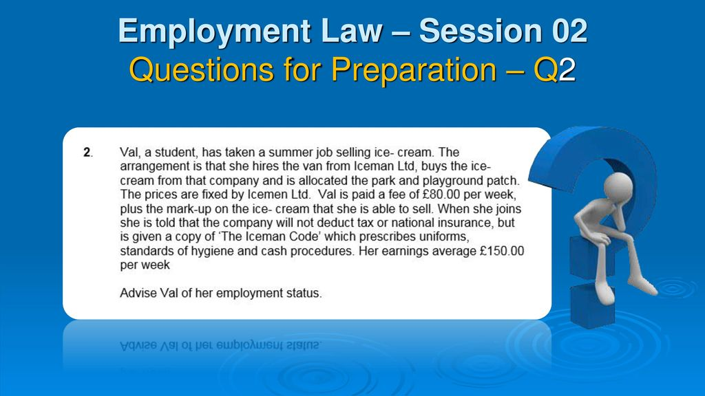 employment law assignment Learn how to address employment law issues at work, from recruitment, tupe and terms and conditions to statutes, statutory rates and redundancy.