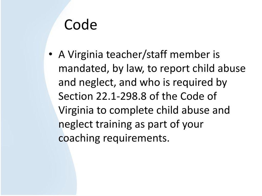 2 Code A Virginia ...