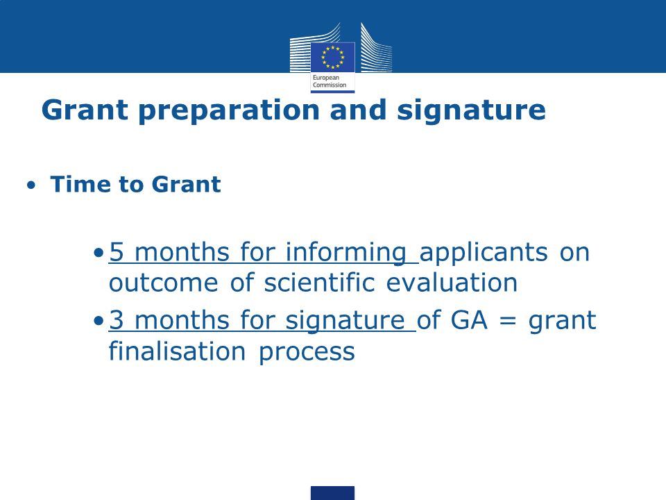 Grant preparation and signature