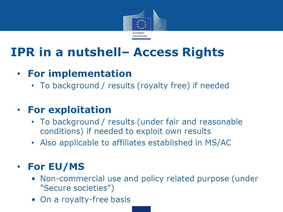 IPR in a nutshell– Access Rights