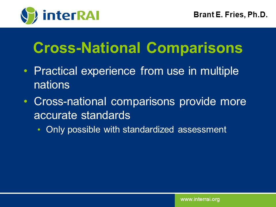 Cross-National Comparisons