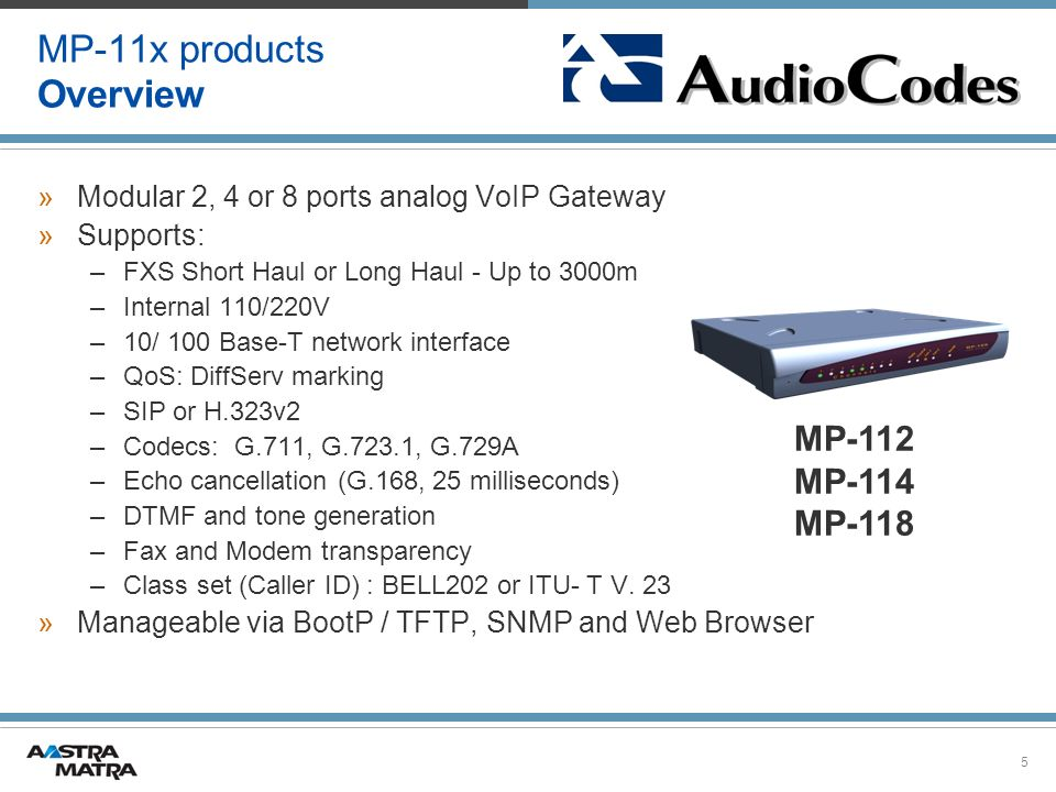 MP-11x products Overview