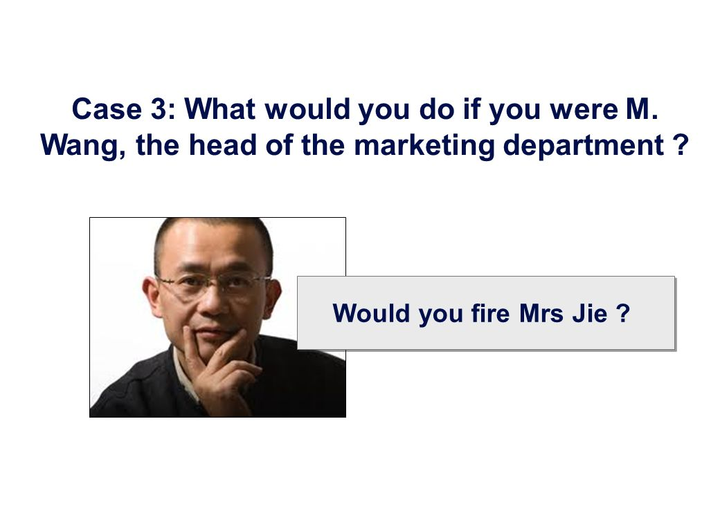 Case 3: What would you do if you were M