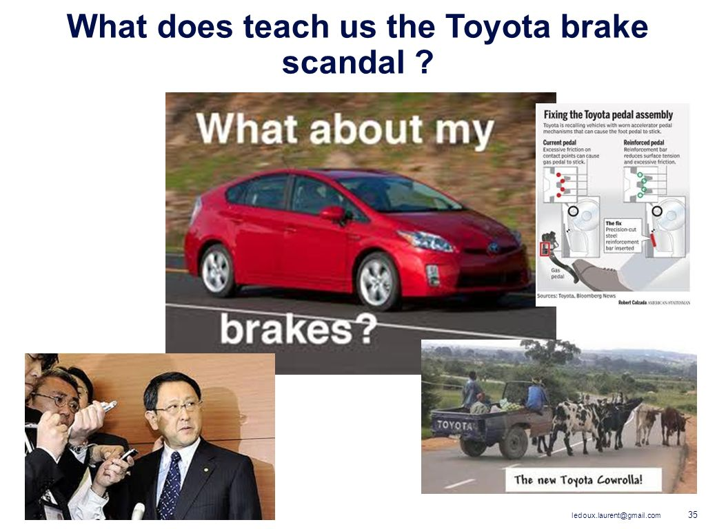 What does teach us the Toyota brake scandal
