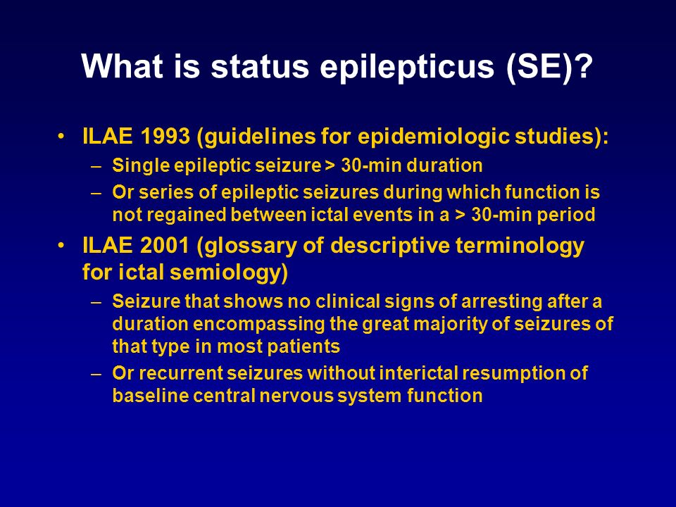What is status epilepticus (SE)