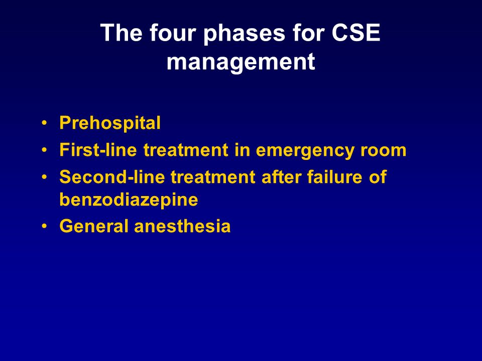 The four phases for CSE management