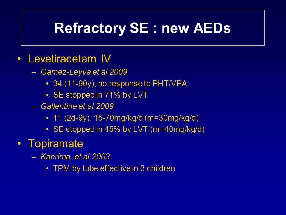 Refractory SE : new AEDs