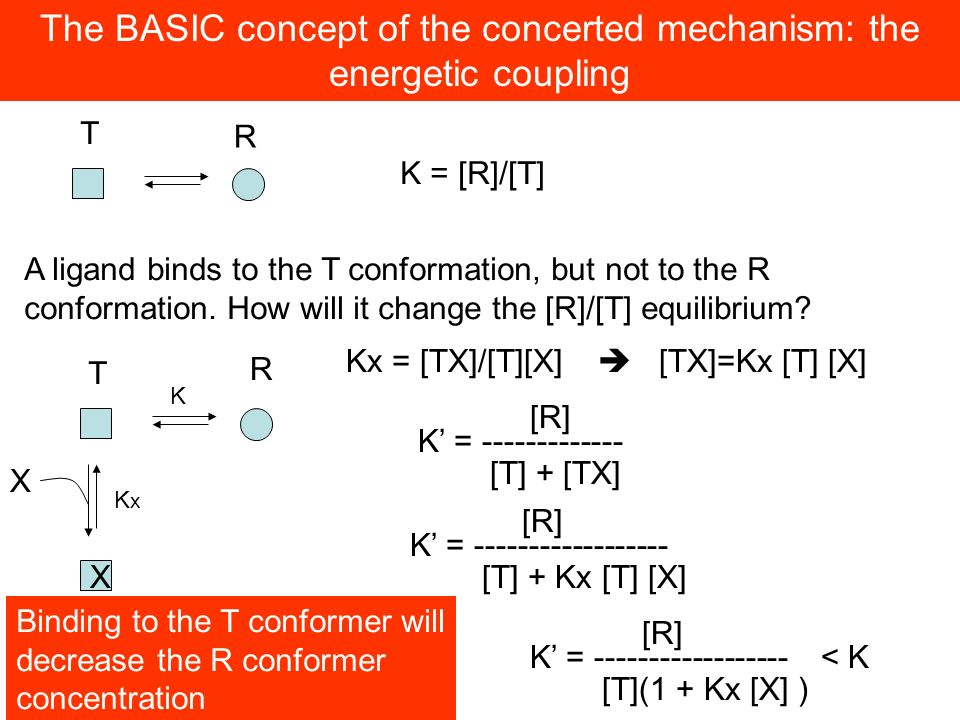 The BASIC concept of the concerted mechanism: the energetic coupling