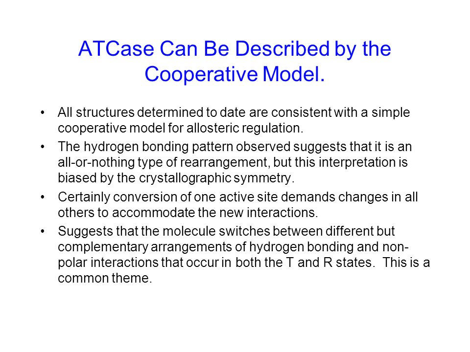 ATCase Can Be Described by the Cooperative Model.