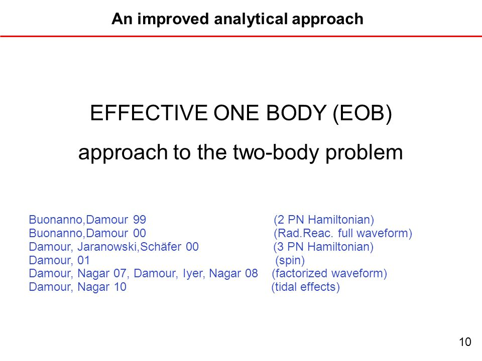 An improved analytical approach