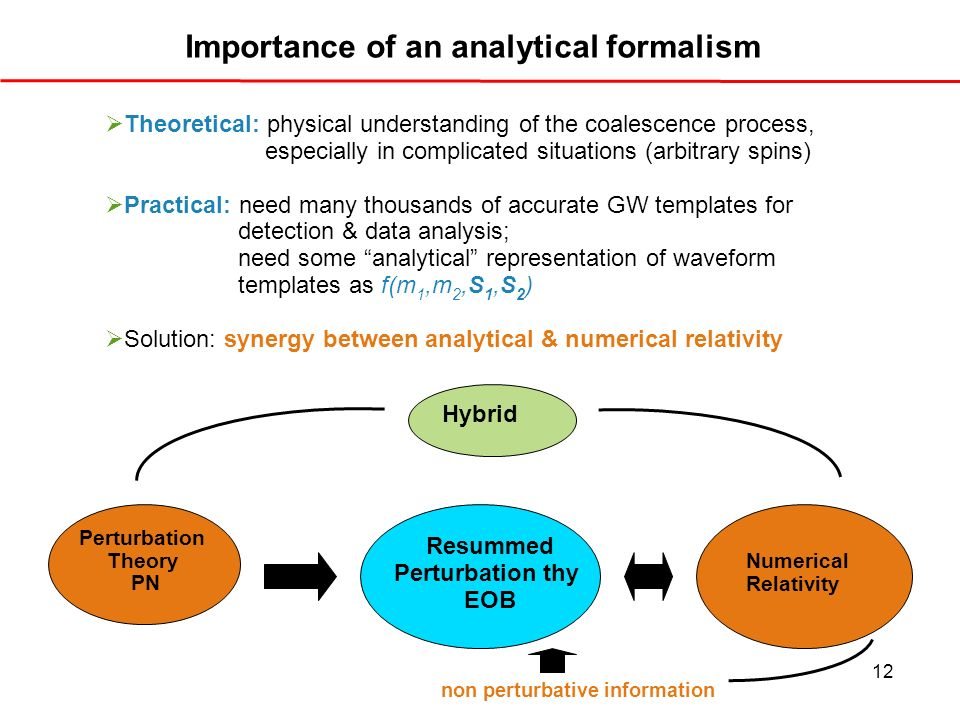 Importance of an analytical formalism