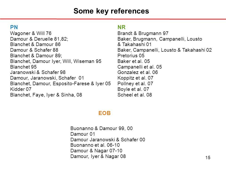 Some key references PN NR EOB Wagoner & Will 76