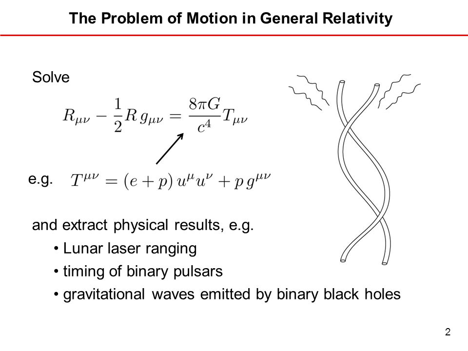 The Problem of Motion in General Relativity
