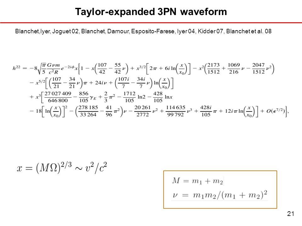 Taylor-expanded 3PN waveform