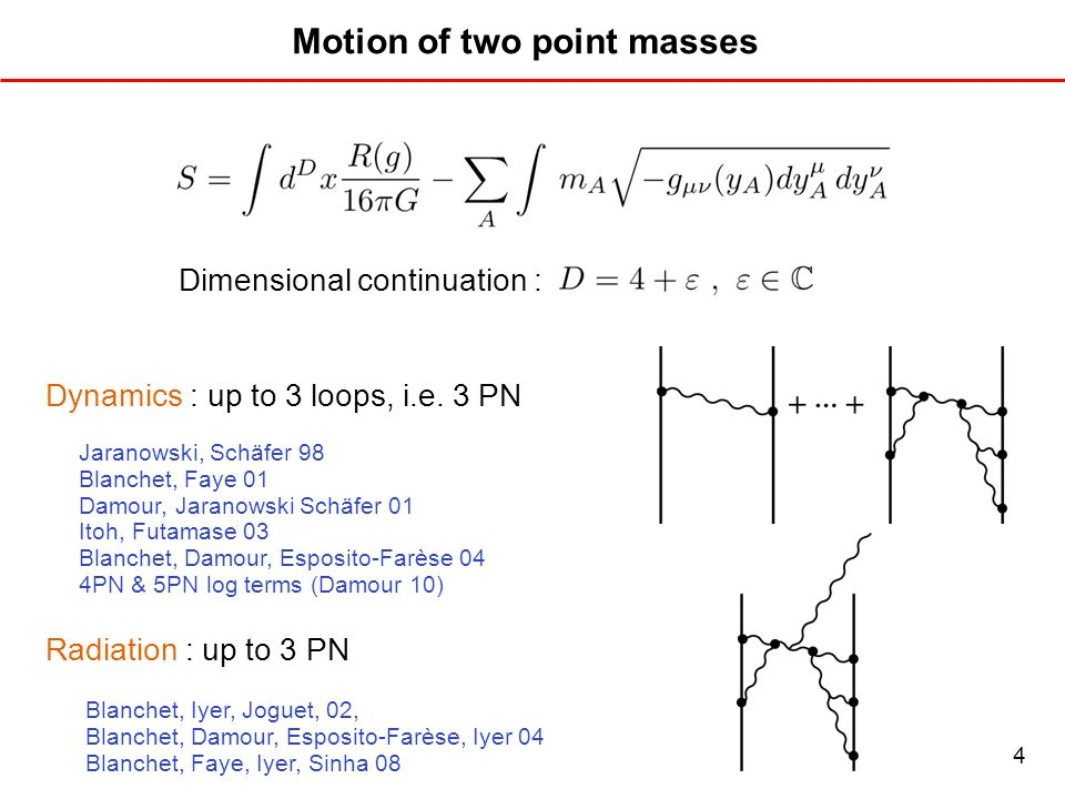 Motion of two point masses