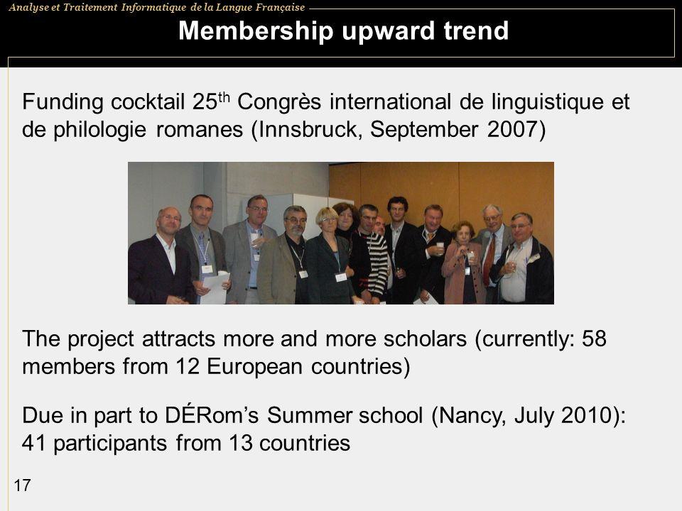 Membership upward trend