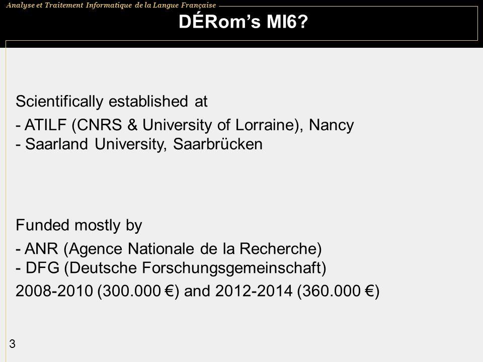 DÉRom's MI6 Scientifically established at