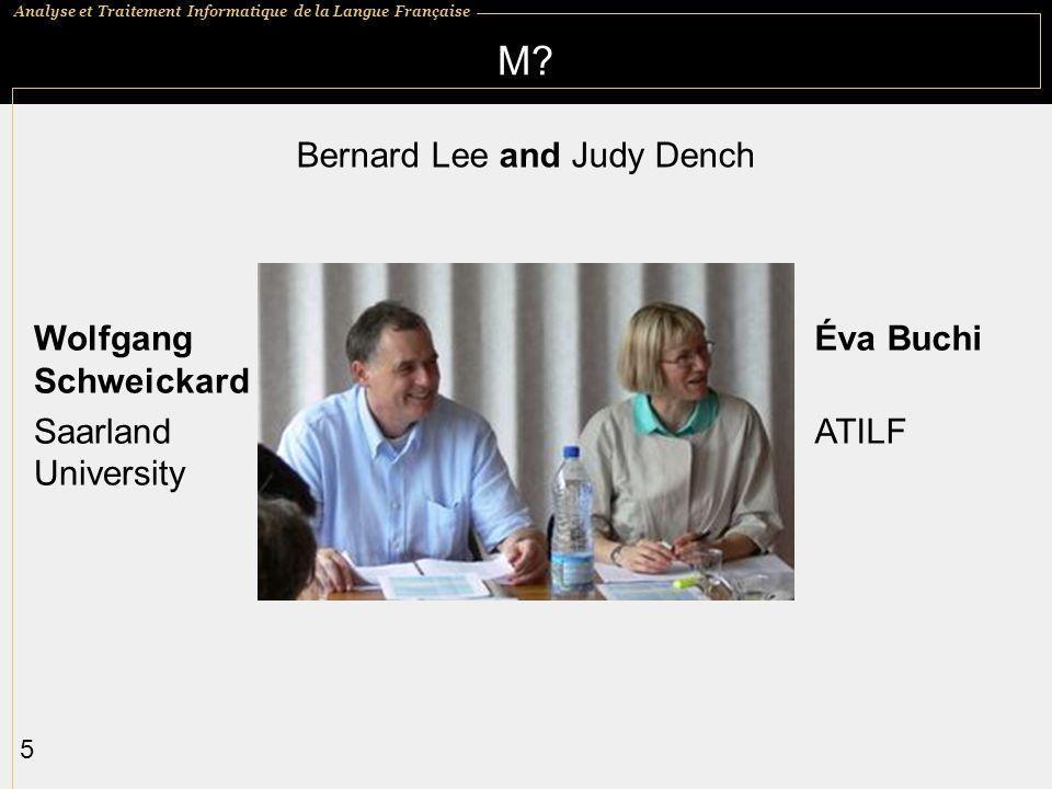 Bernard Lee and Judy Dench