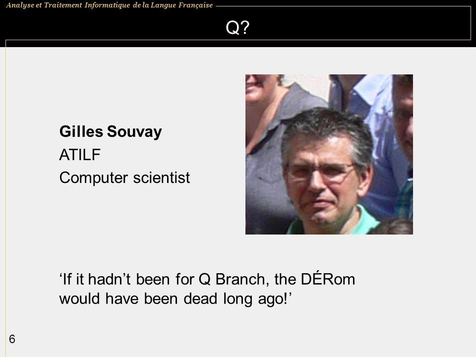 Q Gilles Souvay ATILF Computer scientist