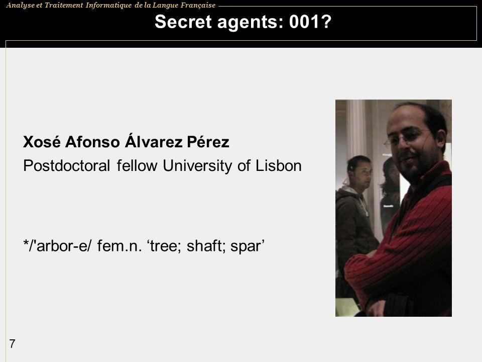 Secret agents: 001 Xosé Afonso Álvarez Pérez