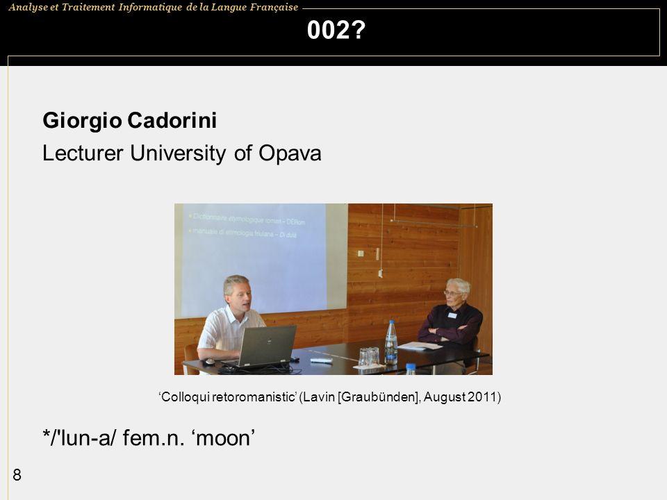 002 Giorgio Cadorini Lecturer University of Opava