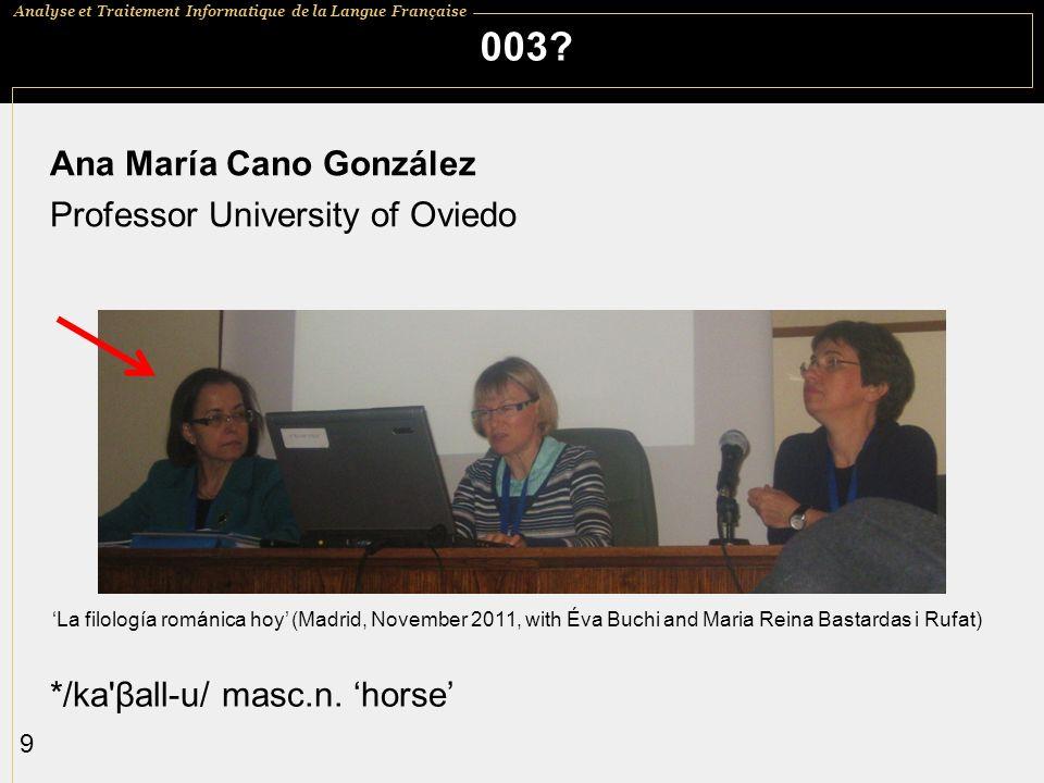 003 Ana María Cano González Professor University of Oviedo