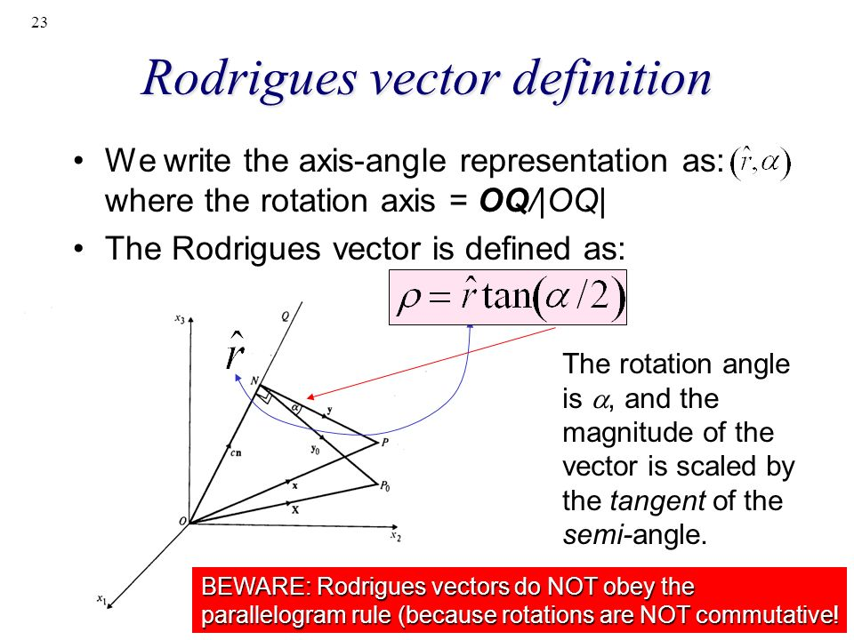 Rodrigues vector definition