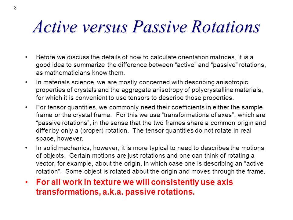 Active versus Passive Rotations