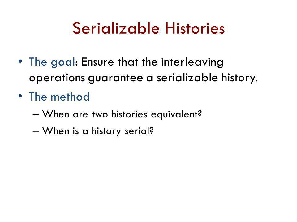 Serializable Histories