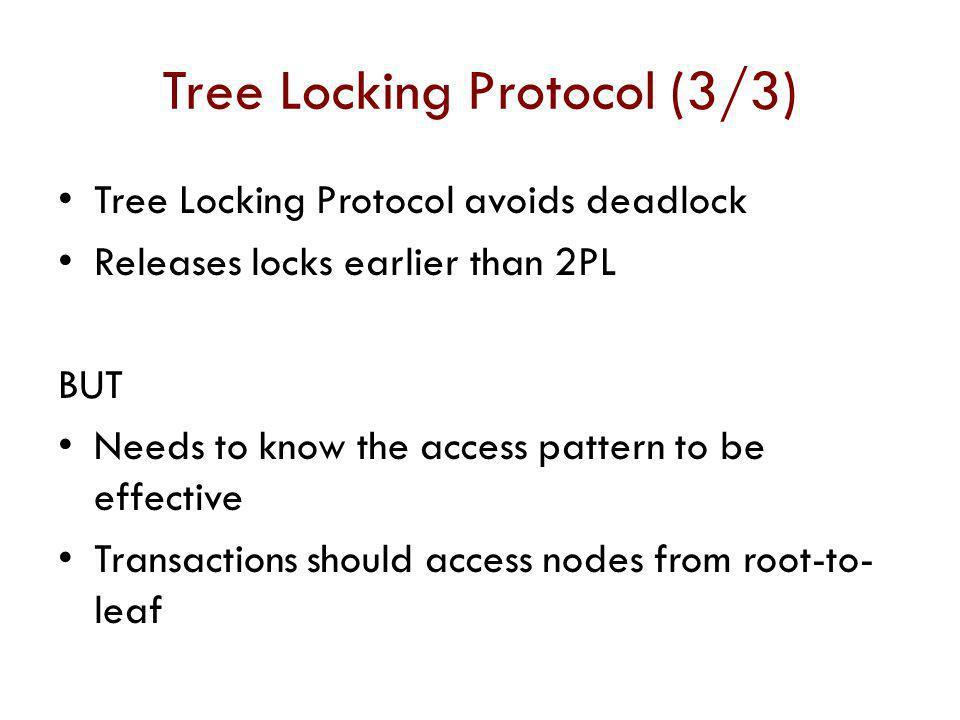 Tree Locking Protocol (3/3)