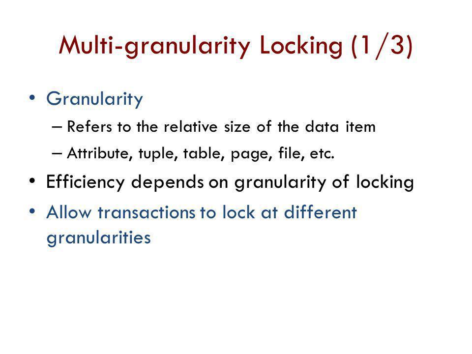 Multi-granularity Locking (1/3)