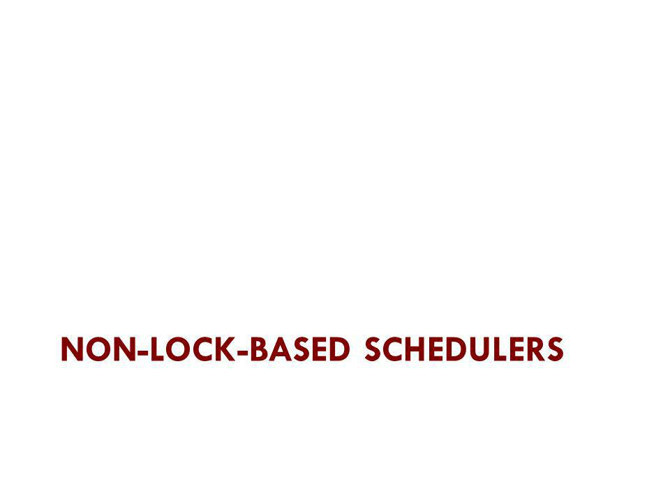 Non-lock-based schedulers