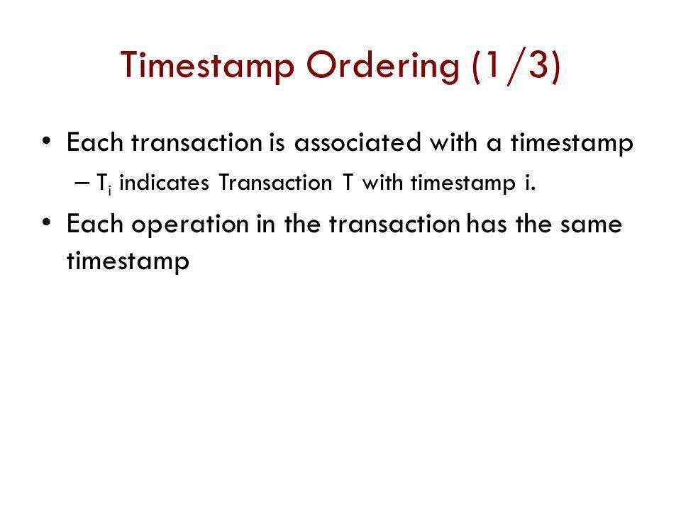 Timestamp Ordering (1/3)