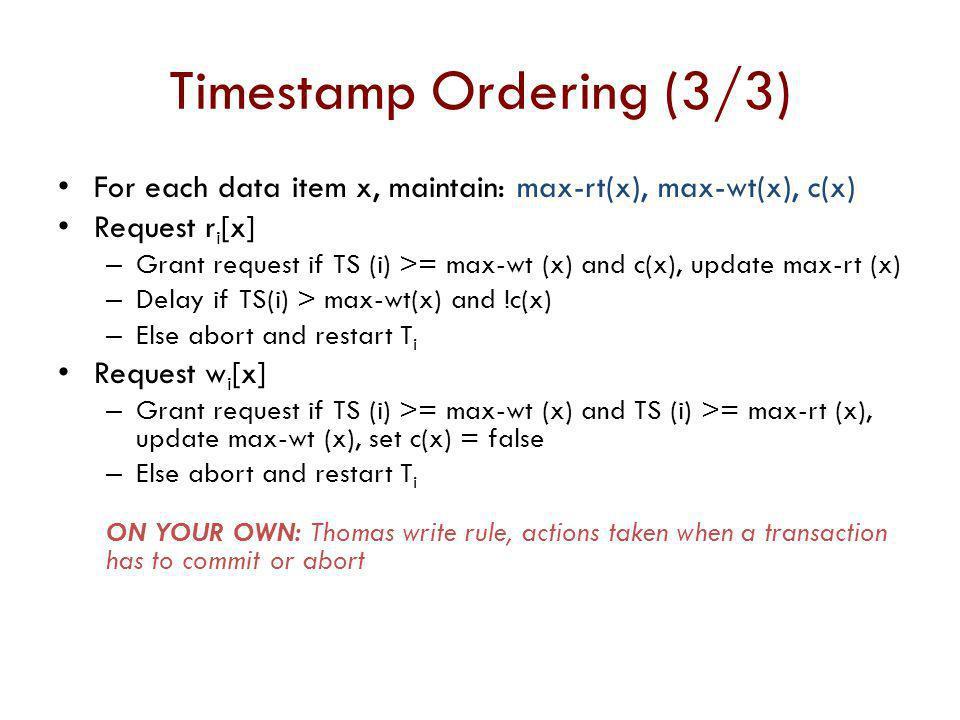 Timestamp Ordering (3/3)