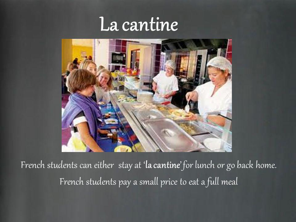 French students pay a small price to eat a full meal
