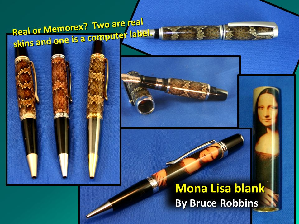 Mona Lisa blank By Bruce Robbins Real or Memorex Two are real